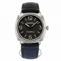 Panerai Radiomir 45mm Stainless Steel Case Black Dial Manual Wind PAM00210 DZ07NC - Beverly Hills Watch Company