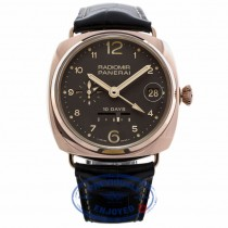 Panerai 10 Days GMT Oro Rosso Automatic Rose Gold PAM00497 QPV72R - Beverly Hills Watch Company