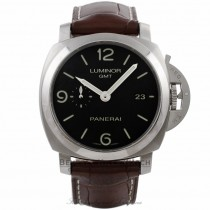 Panerai Luminor 1950 3 Day Power Reserve GMT Stainless Steel NIB PAM00320 9YDVLC - Beverly Hills Watch Company Watch Store