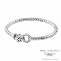 Naira & C 18k White Gold Enamel and Diamonds Panther Bracelet OM-CCMI0265/400/E/B-W T00EHE - Beverly Hills Watch Company Jewelry