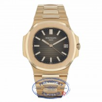 Patek Philippe Nautilus Brown Dial 18K Rose Gold Automatic 5711/1R-0016 RVQ7K6 - Beverly Hills Watch