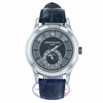 Patek Philippe Complications Annual Calendar Black and Grey Dial 40mm White Gold Watch 5205G-010 WVKF2X- Beverly Hills Watch