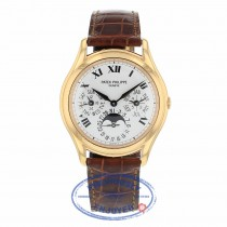 Patek Philippe Automatic Perpetual Calendar 36mm 18k Rose Gold White Dial 3940R 91X6EL - Beverly Hills Watch