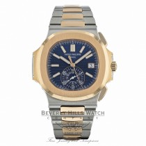 Patek Philippe 18k Rose Gold Stainless Steel Nautilus Chronograph Watch 5980/1AR-001 UPZNUX - Beverly Hills Watch Company