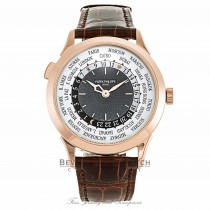 Patek Philippe World Time Rose Gold Slate Grey Dial 5230R-001 QNV9FH - Beverly Hills Watch Company