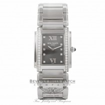 Patek Philippe Twenty-4 Stainless Steel Grey Dial Diamond Markings 4910/10A-011 VJI35T - Beverly Hills Watch Company Watch Store