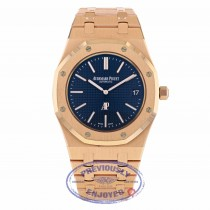 Audemars Piguet Royal Oak 39MM Ultra Thin Rose Gold Blue Dial 15202OR.OO.1240OR.01 - Beverly Hills Watch
