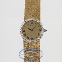 Piaget Gold Mesh Bracelet Diamond Bezel Ladies Vintage Watch Beverly Hills Watch Company Watch Store