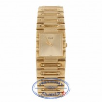 Piaget Dancer Square 18K Yellow Gold Champagne Dial Bracelet 6835 - Beverly Hills Watch Store