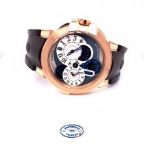Harry Winston 44mm Ocean Dual Time Rose Gold Watch OCEATZ44RR001 PNFH1K - Beverly Hills Watch Company