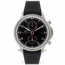 IWC Portuguese Yacht Club Chronograph Black Dial Rubber Strap IW390210 ZCAKNX - Beverly Hills Watch Store