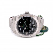 Rolex Airking 40mm Stainless Steel Black Dial Watch 116900 PYUM52 - Beverly Hills Watch Company