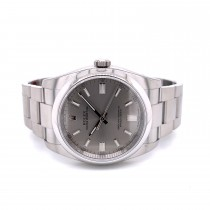 Rolex Oyster Perpetual 36mm Grey Dial 116000 QYW719 - Beverly Hills Watch Company