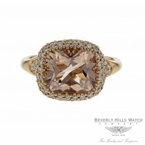 Naira & C Cushion Cut Morganite Rose Gold Ring ZJL7VJ - Beverly Hills Watch and Jewelry Company