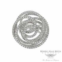 18k White Gold White Diamonds Round Geometric Design Ring Size 6 LYLLWR - Beverly Hills Watch