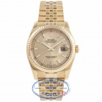 Rolex Datejust Champagne Stick Dial 36MM 116238 RTYV5T - Beverly Hills Watch Company Watch Store