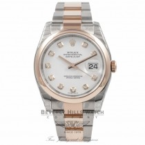 Rolex DateJust Stainless Steel Rose Gold 116201 REGH13 - Beverly Hills Watch Company Watch Store