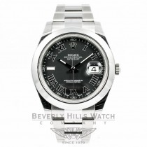 Rolex Datejust 2 41MM Stainless Steel Watch with a White Gold Fluted Bezel 116300 Beverly Hills Watch Store