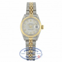 Rolex Datejust 26mm Stainless Steel Yellow Gold Silver Diamond Dial 691733 5H6CXJ - Beverly Hills Watch Company