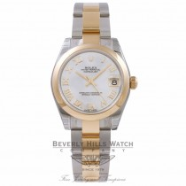 Rolex Datejust 31MM 18k Yellow Gold Stainless Steel Mother of Pearl 178243 0QKPFA - Beverly Hills Watch Company