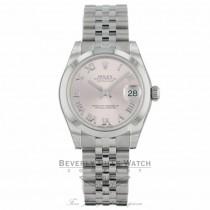 Rolex Datejust 31MM Stainless Steel Pink Dial Roman Numerals Jubilee Bracelet 178240 EYNKZ4 - Beverly Hills Watch Company