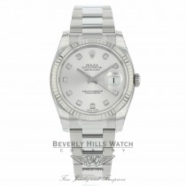 Rolex Datejust 36mm Silver Diamond Dial Oyster 116234 P0WVU5 - Beverly Hills Watch