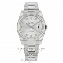 Rolex Datejust 36mm Silver Diamond Dial Oyster 116234 P0WVU5 - Beverly Hills Watch