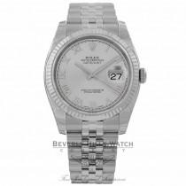 Rolex Datejust 36MM Silver Roman Dial Jubilee Bracelet 116234 Q6JKM3 - Beverly Hills Watch Company