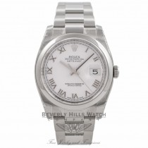 Rolex Datejust 36MM Stainless Steel Domed Bezel White Dial 116200 RK3HX3 - Beverly Hills Watch Company Watch Store