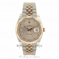 Rolex Datejust 41mm Everose and Stainless Steel Sundust Dial Jubilee Bracelet 126331 QUJ3C2