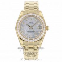 Rolex Oyster Perpetual Pearlmaster 34mm Diamond Bezel 81298 PZ83YN - Beverly Hills Watch Company