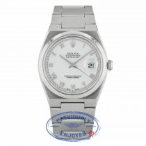 Rolex Datejust Quartz 36mm Stainless Steel White Dial Roman Numerals 17000A F8KX26 - Beverly Hills Watch