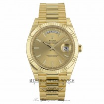 Rolex Day-Date President 40MM Yellow Gold Champagne Dial Luminescent Index Markers 228238 RU5MDK - Beverly Hills Watch Company