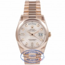 Rolex Day-Date President 18k Rose Gold Pink Champagne Dial 118205 Q3CZBH - Beverly Hills Watch Company Watch Store