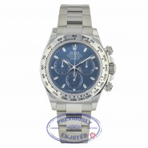Rolex Daytona Chronograph 18K White Gold Oyster Bracelet Blue Dial 116509 NAL7U6 - Beverly Hills Watch