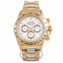 Rolex Daytona Zenith Movement 18K Yellow Gold White Dial Stick Markers 16528 P6LW6L - Beverly Hills Watch Company Watch Store