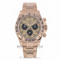 Rolex Daytona Everose Gold 40mm Oyster Bracelet Rose Dial Black Sub Dials Chronograph Watch 116505 RY89AN - Beverly Hills Watch Company Watch Store