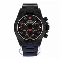 Rolex Daytona Black DLC Blackout Slate Black Dial 116520 W5CCRP - Beverly Hills Watch Company