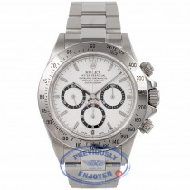 Rolex Daytona Stainless Steel Oyster Bracelet White Dial Black Sub Dials Zenith El Primero Chronograph Automatic Watch 16520 Beverly Hills Watch Company Watch Store