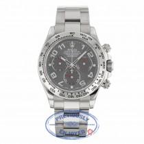 Rolex Daytona Chronograph 18K White Gold Oyster Bracelet Rhodium Arabic Dial 116509 5C3WZ9 - Beverly Hills Watch Company