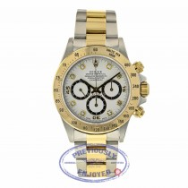 Rolex Daytona Zenith Yellow Gold Stainless Steel White Diamond Dial 16523 5CWHX2