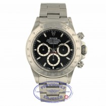 Rolex Daytona Zenith Black Dial Inverted Six Stainless Steel 16520 ZT9L0A