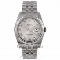 Rolex Datejust 36MM Silver Roman Dial Bracelet 116234 EFC0YH