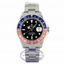 "Rolex GMT Master II Stainless Steel ""PEPSI"" 16710 EKPVAF - Beverly Hills Watch Company"