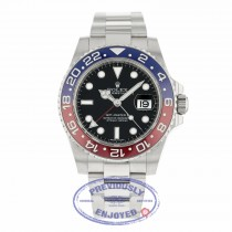 Rolex GMT Master II Black Lacquer Dial 18K White Gold Oyster Bracelet Automatic 116719BLRO JXFXQQ - Beverly Hills Watch