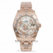 Rolex Masterpiece Datejust 34MM 18k Rose Gold Goldust Dream Mother of Pearl Dial 81315 MCQP2Q - Beverly Hills Watch Company Watch Store