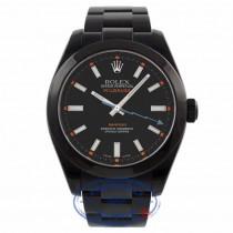 Rolex Milgauss Stainless Steel Black DLC Black Dial 116400 VZ0FV3 - Beverly Hills Watch Store