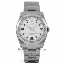 Rolex Oyster Perpetual 34mm Stainless Steel White Dial Arabic Numeral 114200 M4K1CX - Beverly Hills Watch Company