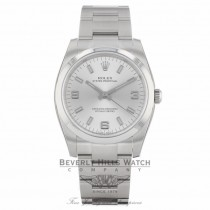 Rolex Air King Stainless Steel Domed Bezel Silver Dial 114200 8WMPQN - Beverly Hills Watch Company