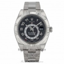 Rolex Sky-Dweller 18k White Gold  Dual Time Annual Calendar Black Dial 326939 TANAQV - Beverly Hills Watch Company